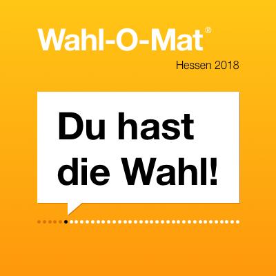 """Banner des Wahl-O-Mat mit dem Slogan: """"Du hast die Wahl!"""""""